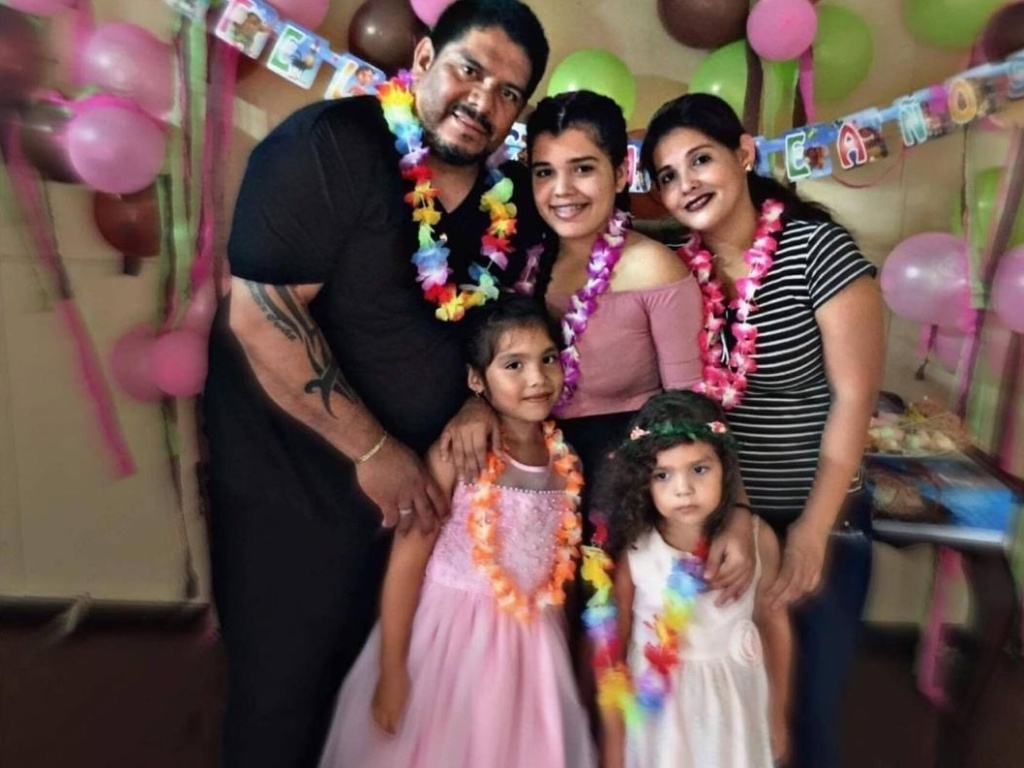Guillermo Frestan, 51, with his wife, Ana Maria Castro Ortez, and daughters Melanie, Jazmin and Fabiana.