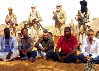 This Al-Andalus image grab taken on September 30, 2010 from a video released shows hostages seized in Niger by Al-Qaeda in the Islamic Maghreb. U.S. counterterrorism officials are concerned that al-Qaida affiliates in Africa are growing stronger.