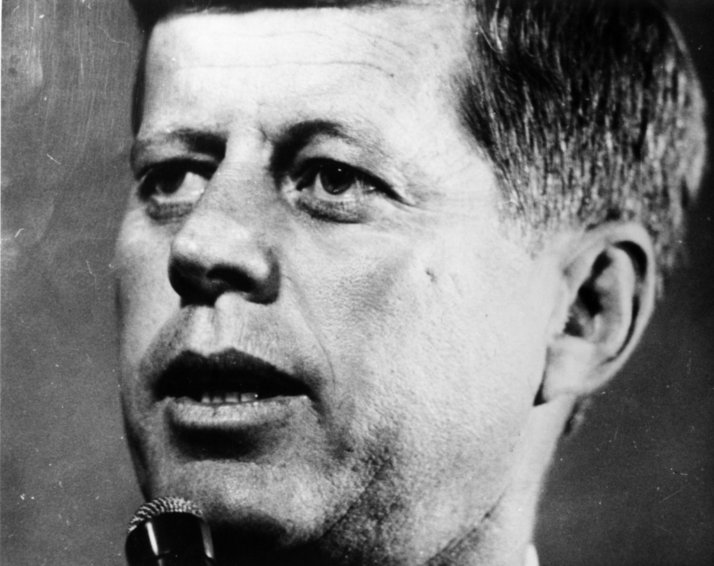John F Kennedy (1917 - 1963) 35th president of the United States (1961 - 1963). Assassinated on November 22, 1963 in Dallas, Texas.