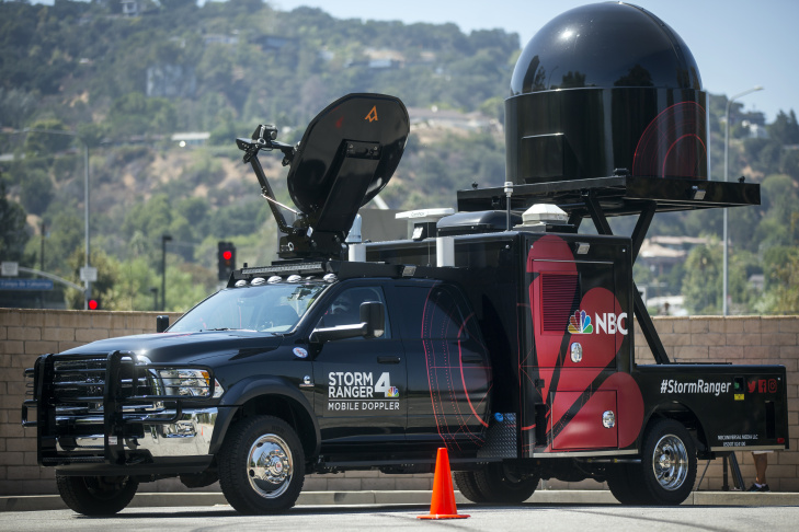 NBC4 recently purchased of state-of-the-art truck with a mobile Doppler radar attached to the back. They named it Storm Ranger.