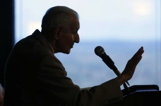 Jack Kevorkian, 83, at a news conference March 24, 2008 in Southfield, Michigan.