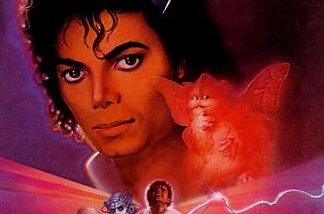 "Image of Michael Jackson as seen on promotional poster for ""Captain EO."""