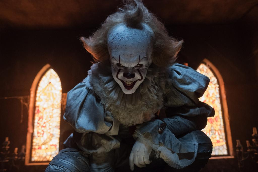 Bill Skarsgard as Pennywise in the horror thriller,