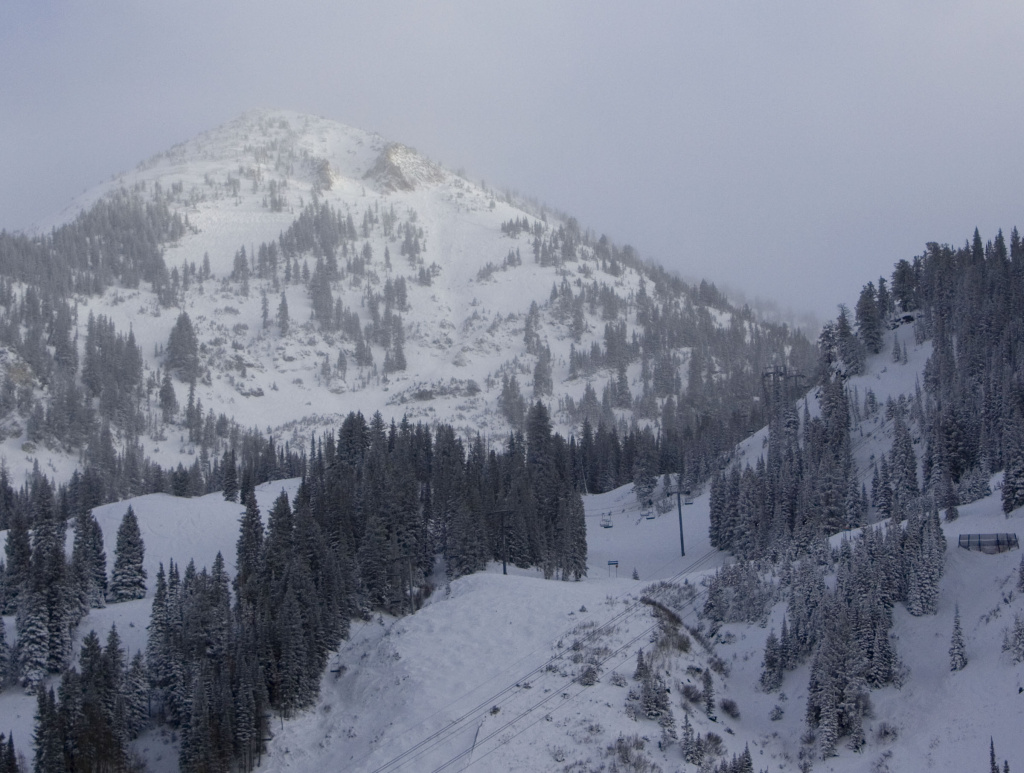 File: An avalanche struck Snowbird Ski Resort on Mount Baldy, Sunday, Dec. 14, 2008. A skier buried several feet deep for nearly an hour in a rare avalanche inside the boundary of Snowbird resort died at a hospital from her injuries.