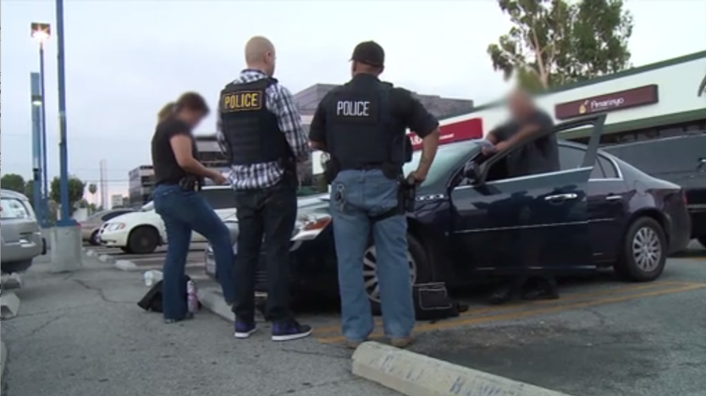 A screen capture from a video released in August 2015 by U.S. Immigration and Customs Enforcement, during a nationwide operation seeking immigration fugitives.