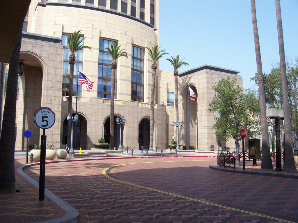 Los Angeles's Union Station's Patsaouras Plaza, which is closed for renovations for three months, as seen on Jan. 16, 2005.