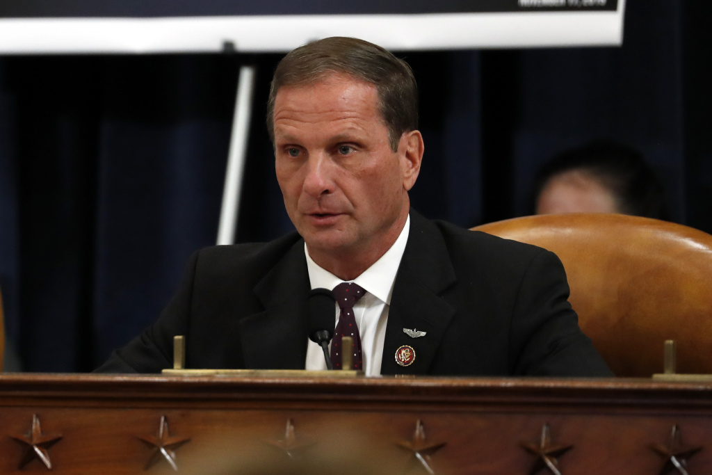 Rep. Chris Stewart at the House Intelligence Committee on Capitol Hill November 19, 2019 in Washington, DC.