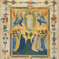 The Ascension of Christ from the Laudario of Sant'Agnese, about 1340, Pacino di Bonaguida.  The J. Paul Getty Museum