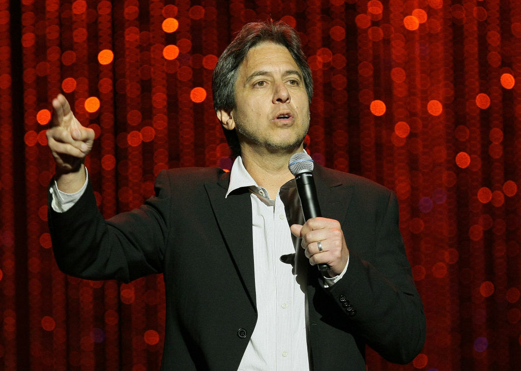 Host Ray Romano speaks onstage at the 4th Annual Comedy Celebration Benefiting the Peter Boyle Fund hosted by the International Myeloma Foundation at The Wilshire Ebell Theatre on November 13, 2010 in Beverly Hills, California.