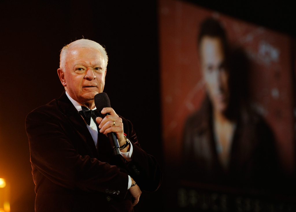 Society of Singers President Jerry Sharell speaks onstage at MusiCares Person Of The Year Honoring Bruce Springsteen in February, 2013 in Los Angeles. Sharell is in critical condition after being attacked by a knife-wielding man Sunday, September 16, 2013.