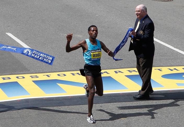 Running Of The 117th Boston Marathon