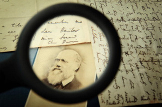 Original letters from Charles Darwin are displayed at the Herbaruim library on March 25, 2009 at the Royal Botanic Gardens, Kew in London.