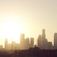 downtown los angeles skyline heat summer