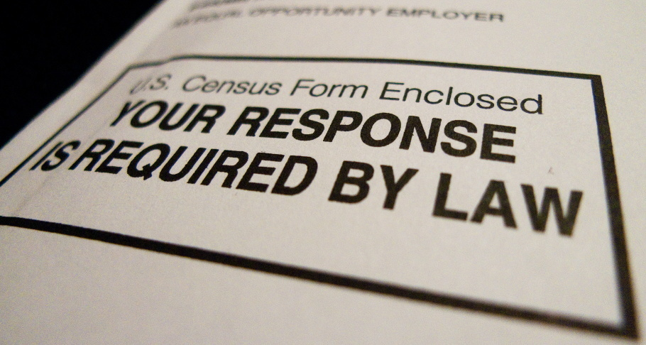 The official US Census form,  pictured on March 18, 2010 in Washington, DC,
