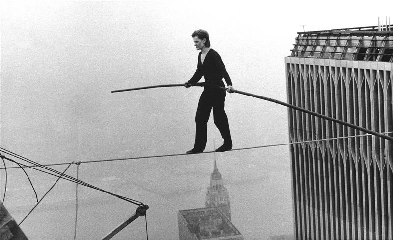 Tightrope walker Philippe Petit.