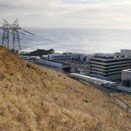 FILE - This Nov. 3, 2008, file photo, shows one of Pacific Gas and Electric's Diablo Canyon Power Plant's nuclear reactors in Avila Beach on California's central coast. With several faults nearby, federal regulators need to reassess seismic standards at California's last operating nuclear power plant and determine if earthquake risks are properly accounted for in its structural strength, a former Calif., state senator says. In testimony to be submitted Wednesday, Dec. 3, 2014 to a Senate panel, Sam Blakeslee argues that the public safety requires closer scrutiny of Diablo Canyon's twin reactors, which are located on a seaside bluff midway between Los Angeles and San Francisco. (AP Photo/Michael A. Mariant, File)