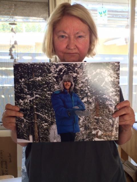 Maureen Gerwig, of Woodland Hills, holds a photo of her late husband, Vietnam veteran Michael Gerwig.