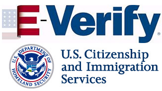 Logo for E-Verify.