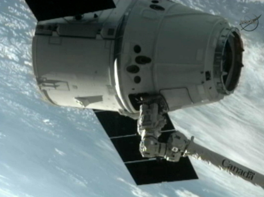 The SpaceX Dragon commercial cargo craft, scheduled to return to earth May 31 from visit to the International Space Station