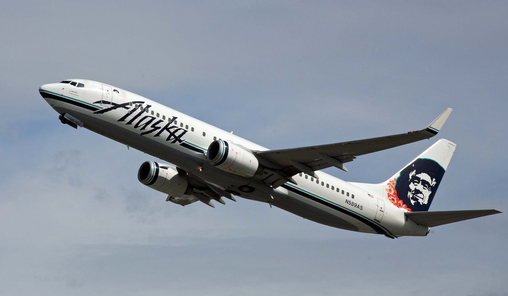 In its application to the U.S. Department of Transportation, Alaska is requesting to operate two daily nonstop flights to Havana using a Boeing 737, which carries 181 passengers. (File photo: Alaska Airlines 737 lifting off from Anchorage International Airport.)