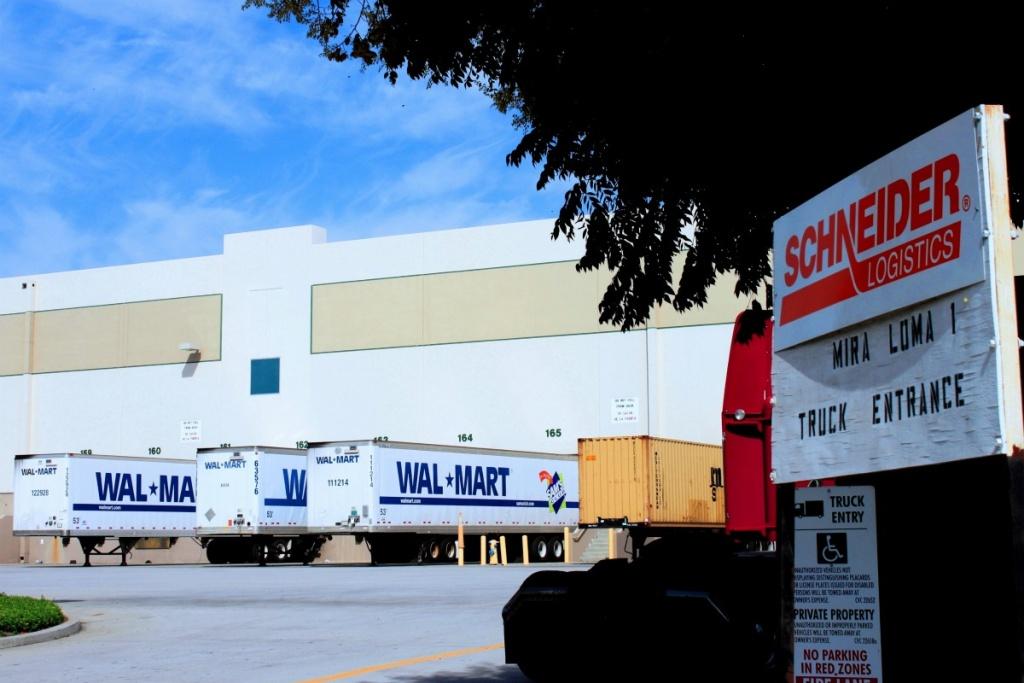 Schneider Logistics operates a Walmart distribution center in Mira Loma area near Riverside.