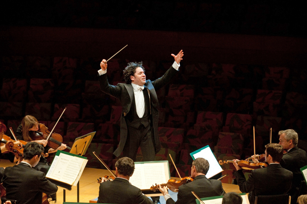 Conductor Gustavo Dudamel, music director of the Los Angeles Philharmonic.
