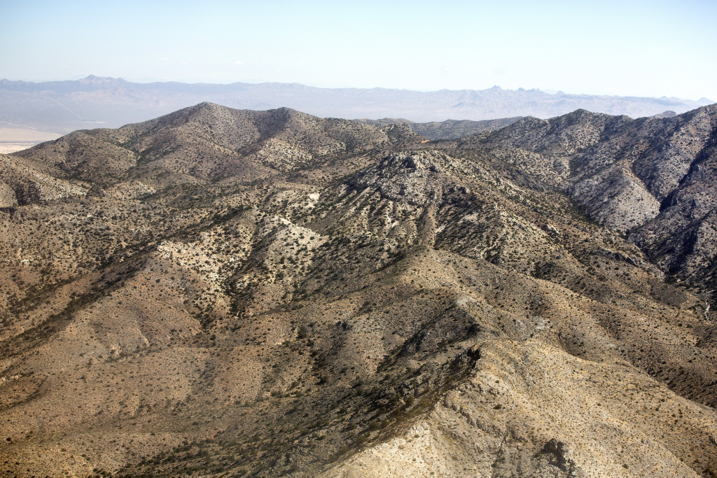 The Clark Mountain Range at Mojave National Preserve is located near the California-Nevada border.