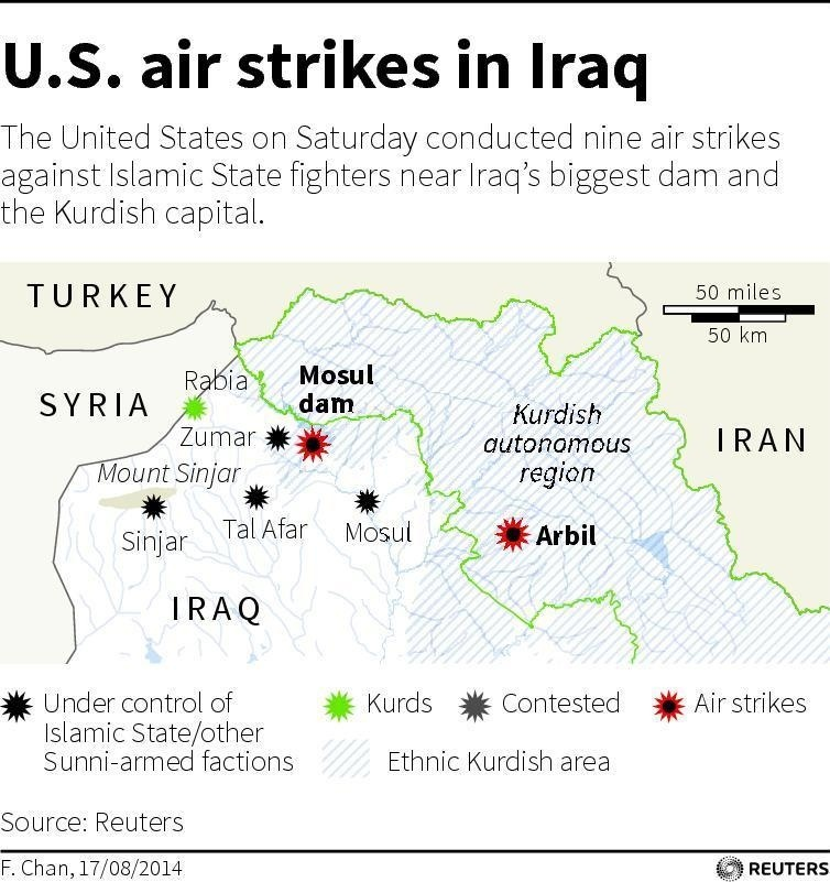 Kurds US Air Power Backing Operation To Retake Mosul Dam KPCC - Map of powered dams in the us