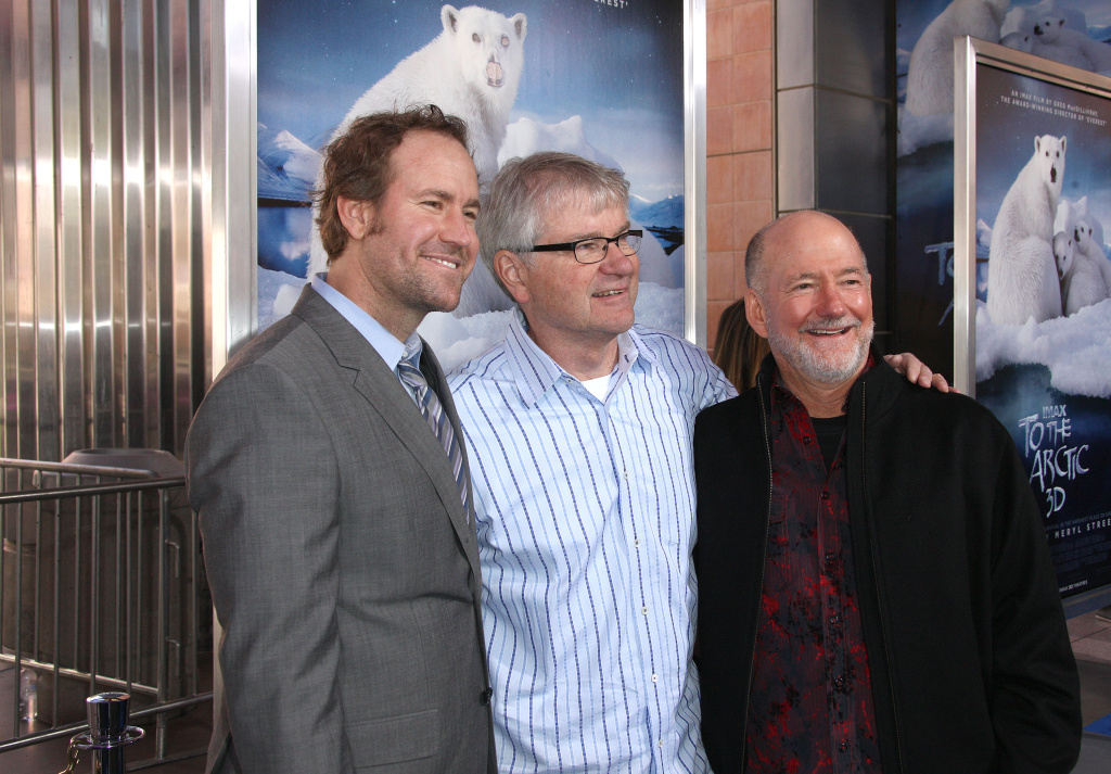 Producer Shaun MacGillivray, executive producer Tom Campion and director Greg MacGillivray attend the Premiere Of Warners Bros. Pictures'