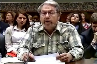Screen grab of Neal Jorgensen testifying at a congressional hearing on April 28, 2010.