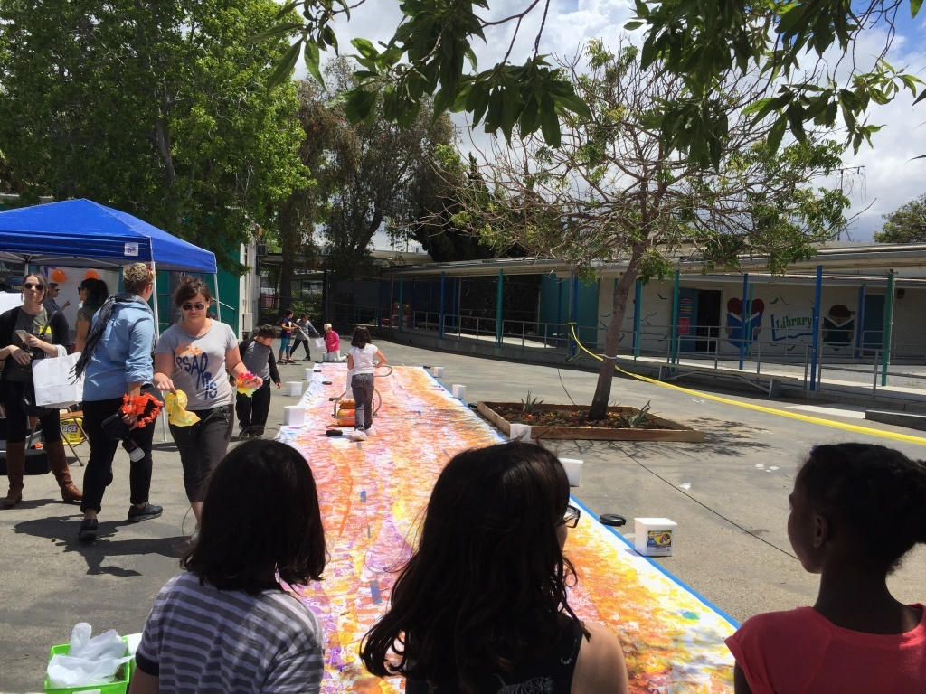 Students at Grand View Blvd. Elementary School participate in Inclusive Arts Day
