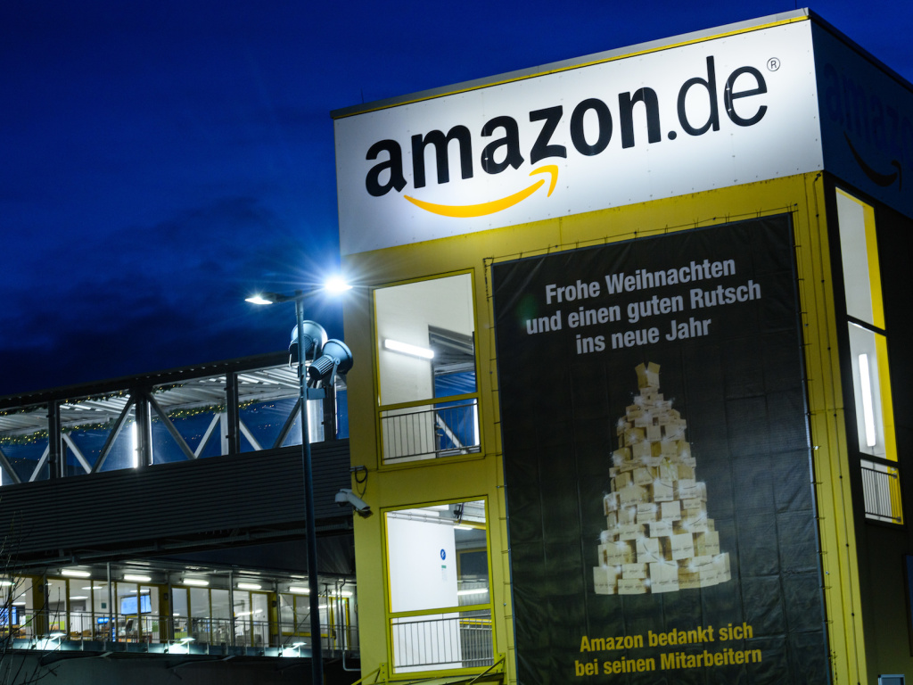 An Amazon warehouse in Leipzig, Germany. The European Union's antitrust arm will evaluate the company's role as both a retailer and a marketplace for other retailers.