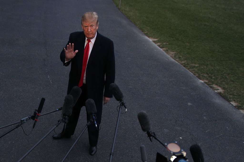 U.S. President Donald Trump returns to the White House after spending the weekend in Florida March 24, 2019 in Washington, DC. Trump returns to Washington as Special Counsel Robert Mueller has concluded his investigation into allegations of Russian interference in the 2016 presidential election