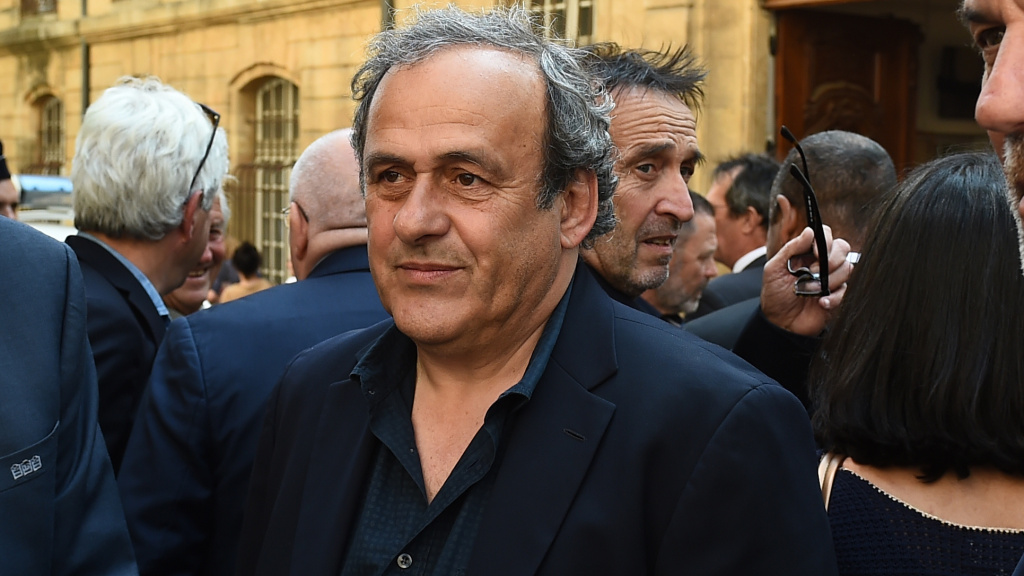 French former soccer great and former UEFA head Michel Platini, seen here in 2018, was detained Tuesday for questioning related to the inquiry into FIFA's awarding of the 2020 World Cup to Qatar.