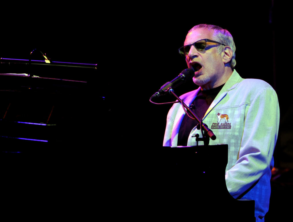 Musician Donald Fagen of The Dukes of September Rhythm Revue performs at the Gibson Amphitheatre on June 28, 2012 in Universal City, California.