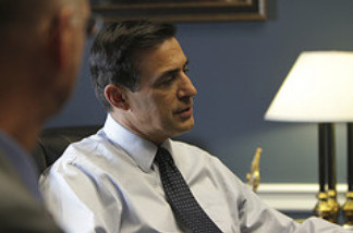 U.S. Representative Darrell Issa attends a North San Diego County Association of Realtors meeting, May 12, 2010.