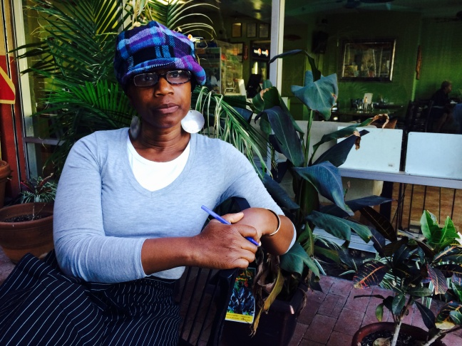 Marlene Sinclair Beckford runs the popular Ackee Bamboo restaurant in Leimert Park. She's owned the place for over a decade and sees big changes ahead with the nearby metro station coming.
