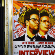 U.S. intelligence officials believe North Korea was centrally involved in the recent attack on Sony Pictures' computer network — possibly out of retribution for its film The Interview. Above, a security guard stands outside a theater during the film's pre