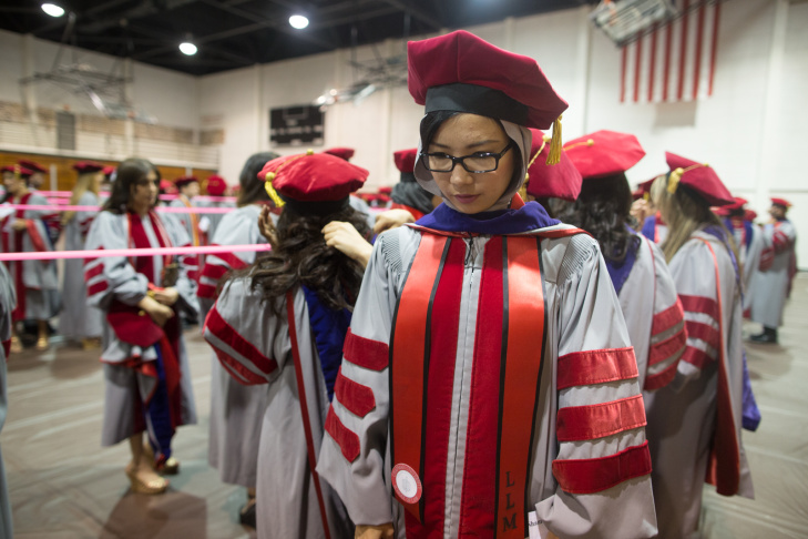 Munira Akhunzada and Shasmi Maqsoudi came to Southern California to study American law, as part of a U.S. State Department sponsored program with Afghanistan to send Afghan attorneys to American for more legal education and training.