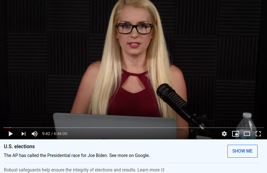 Millie Weaver, a former correspondent for the conspiracy theory website Infowars, hosts nearly 7 hours of live coverage on her YouTube channel. Conservative influencers like Weaver who often broadcast live are increasingly worrisome to misinformation researchers.