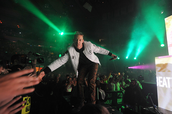 Diplo performs at Madison Square Garden with Skrillex on December 31, 2014 in New York City.