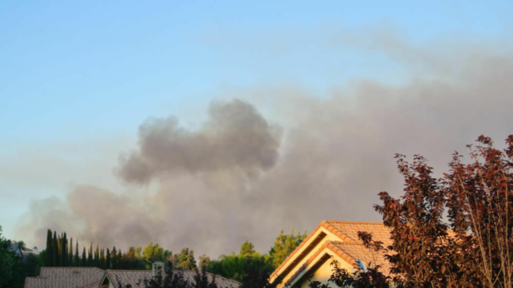 A fire breaks out in Murrieta on Sunday, Sept. 23, 2012.