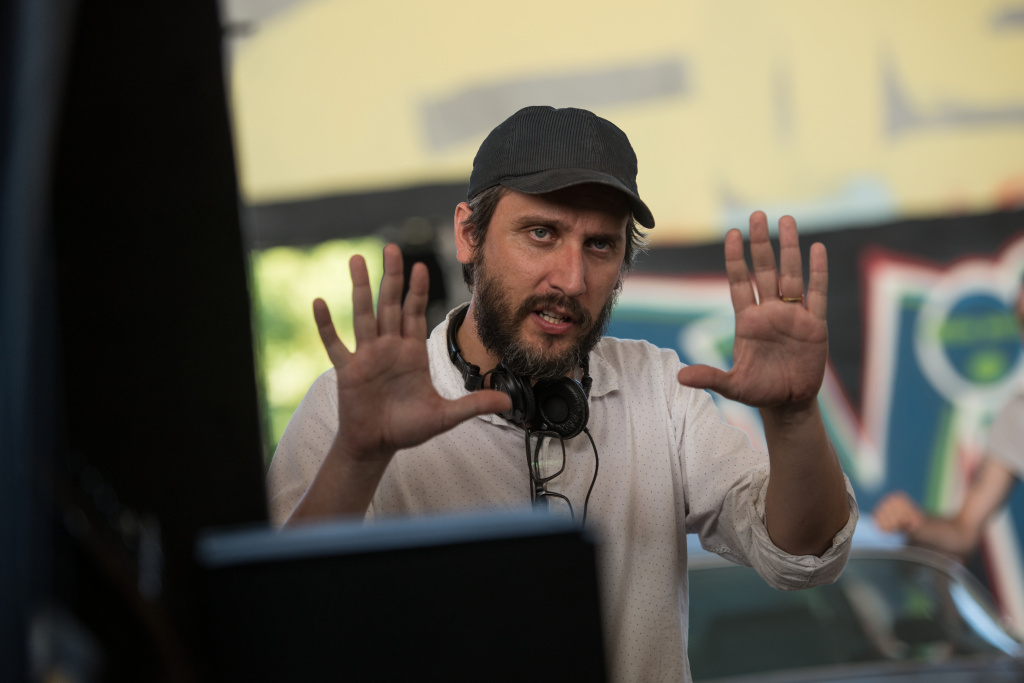 Director Fede Alvarez on the set of the Screen Gems' horror-thriller,