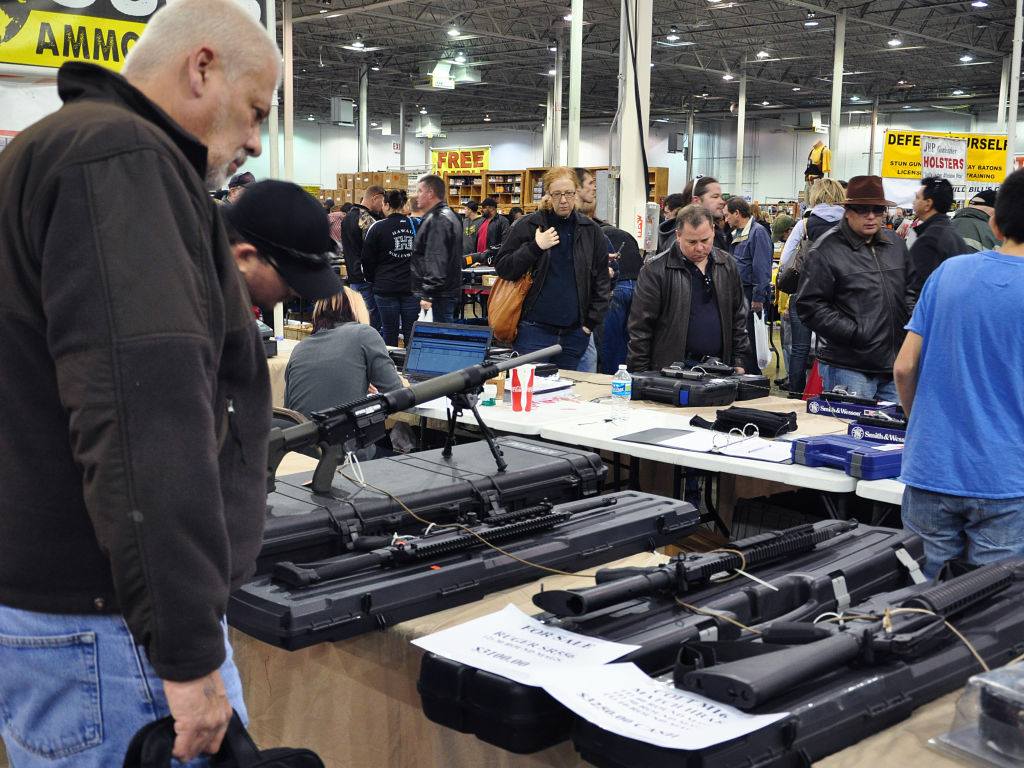 Gun show in Chantilly, Va., last December.