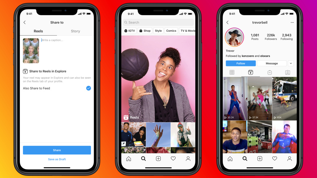 Facebook's new Reels feature allows users to create and share short videos, similar to TikTok.