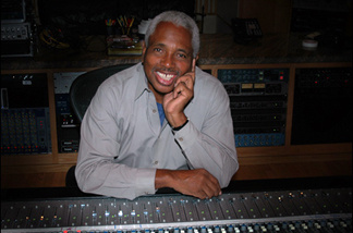 Keyboard player and record producer Clarence McDonald, in the studio.