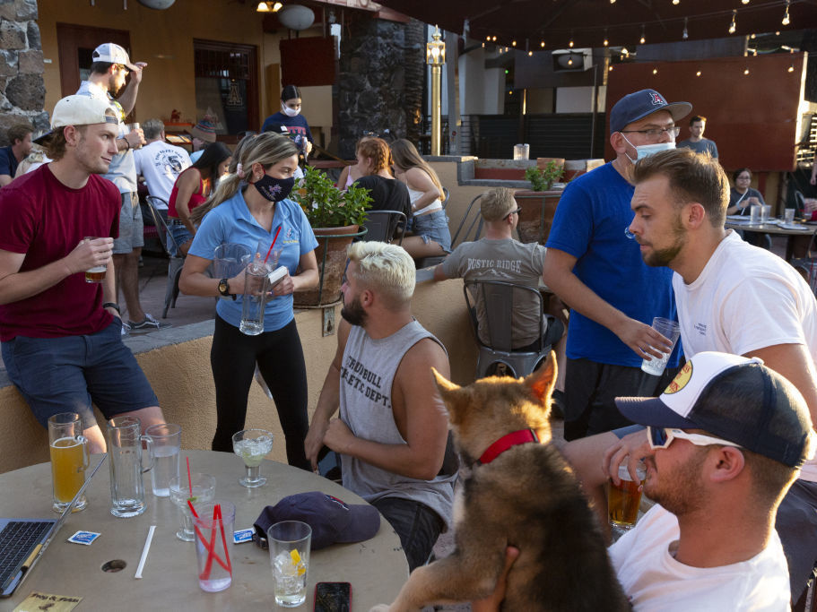 As more people start going back to normal activities like dining out, there has been an increase in cases in people in their 20s and 30s in pockets around the country. Some experts say it's because of lack of social distancing and mask wearing.