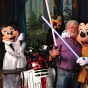 George Lucas Poses With A Group Of