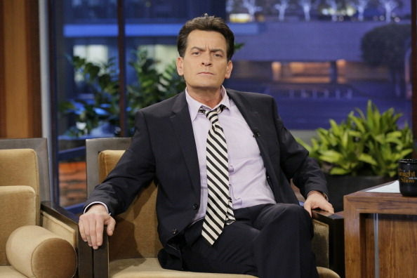 "Actor Charlie Sheen during an interview on January 30, 2013 on the ""Tonight Show"" in Burbank, CA"