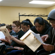 Siblings Gabriel, Angel and Teresita Amador (l. to r.)  attend a workshop on applying for deferred action in 2012.
